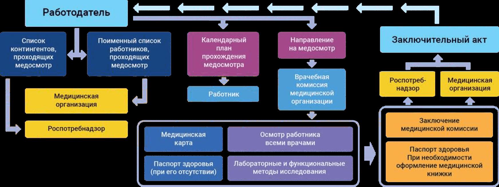Схема проведения периодических медосмотров